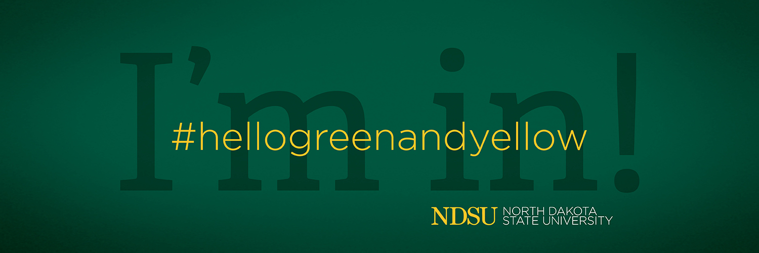 NDSU hello green and yellow